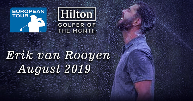 Erik van Rooyen - Hilton Golfer of the Month - August 2019
