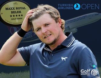 Eddie Pepperell at the Montgomerie Maxx Royal golf club